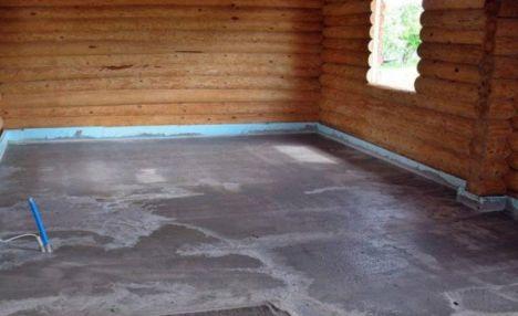 Как сделать бетонный пол в деревянной бане своими руками
